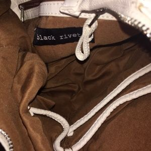 Black Rivet Bags - Black Rivet White Shoulder Bag NWT